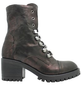 Now Now Bordo Chain Boot With Side Zipper 4777