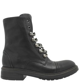 Now Now Black Flat Chain Ankle Boot 4827
