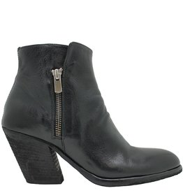 Officine Creative OfficineCreative Black Double Zipper Pitched Heel Daga