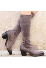 Elena Iachi ElenaIachi Grey Suede Stretch Knee Boot 1646