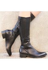 Elena Iachi ElenaIachi Black Knee Boot With Outside Zipper 1739