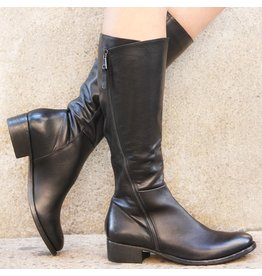 Elena Iachi ElenaIachi Black Knee Boot With Outside Zipper 1739