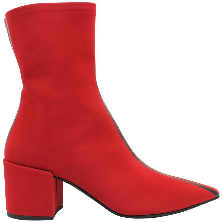 Elena Iachi ElenaIachi Red Stripe Stretch Boot 1798