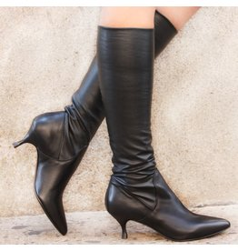 Strategia Strategia Black Point Toe Stretch Knee Boot 2430