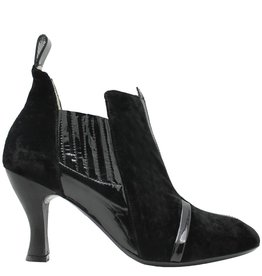 Ixos Ixos Black Velvet Chelsea Dress Boot 7061