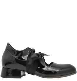 Ixos Ixos Black Patent Lace-Up Shoes 7066
