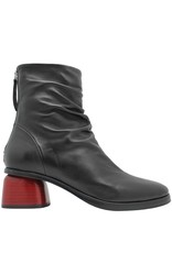 Halmanera Halmanera Black Back Zipper Boot Red Heel Abid