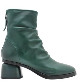 Halmanera Halmanera Green Ruched Back Zipper Boot Abid