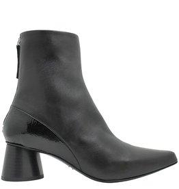 Halmanera Halmanera Black Calf Black Patent Detail Ankle Boot Cara