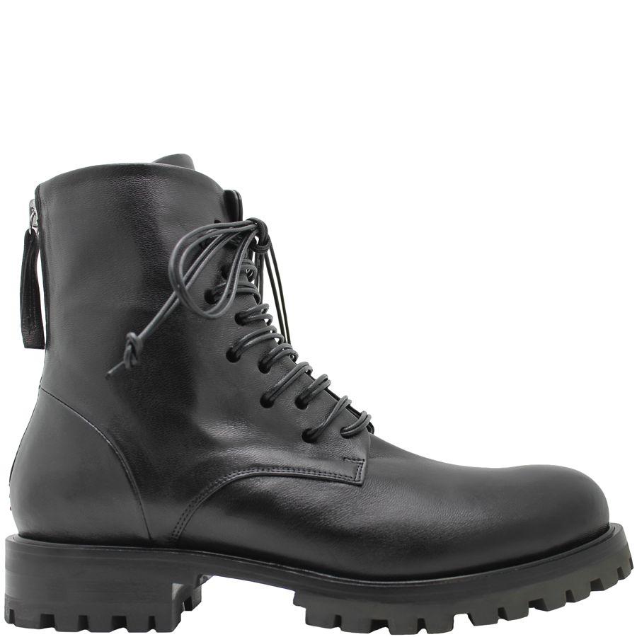 Halmanera Halmanera Black Lace-Up Flat Boot Phan