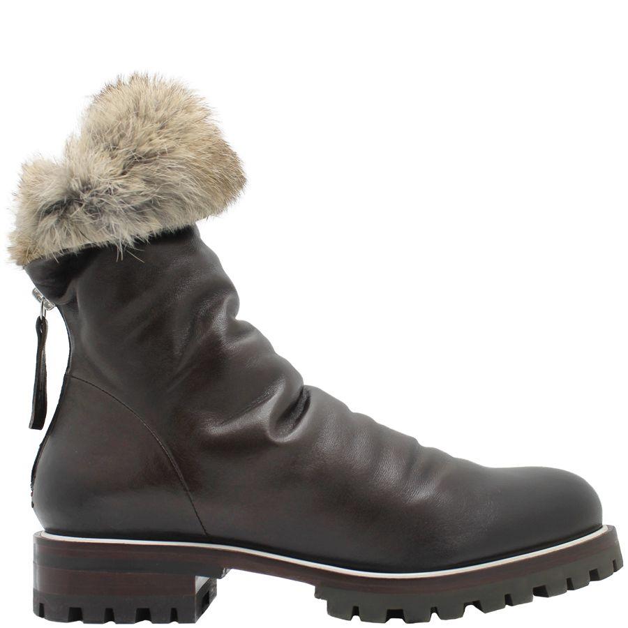 Halmanera Halmanera Brown Fold Down Boot With Fur Nia