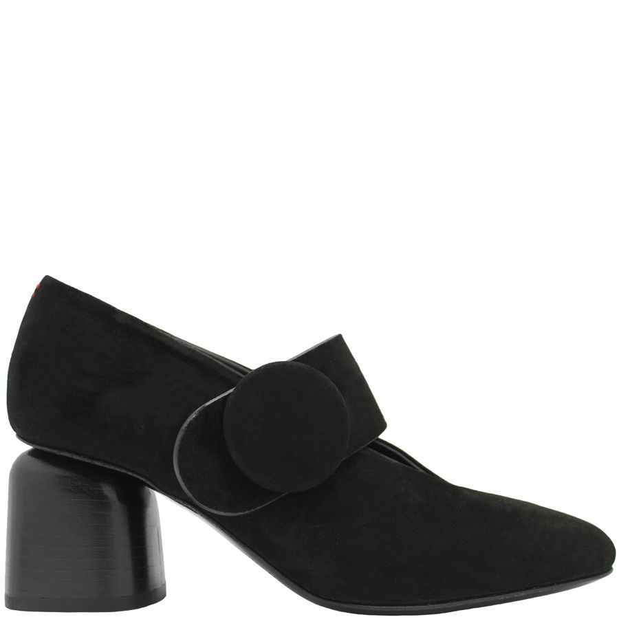 Halmanera Halmanera Black Suede Mary-Jane Square Toe Ronda