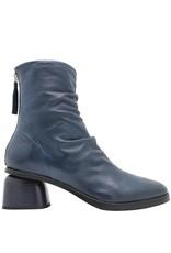 Halmanera Halmanera Blue Ruched Back Zipper Boot Abid