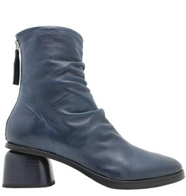 Halmanera Halmanera Blue Ruched Back Zipper Boot Abid
