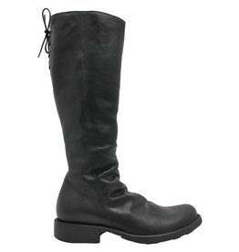 Fiorentini+Baker Fiorentini+Baker Black Calf Knee Boot With Back Tie Emma