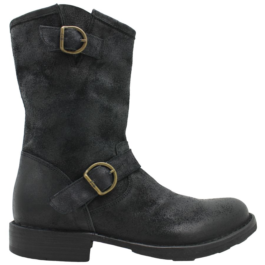 Fiorentini+Baker Fiorentini+Baker Black Nubuk 2Buckle Moto Boot Edeles