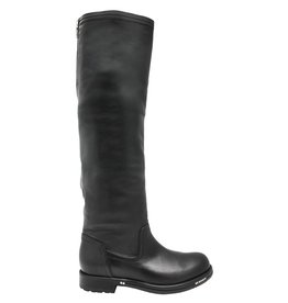 Now Now Black Pull On Boots With Back Zipper 4750