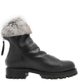 Halmanera Halmanera Black Fold Down Boot With Fur Nia