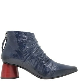 Halmanera Halmanera Blue Patent Back Zipper Red Heel Carly