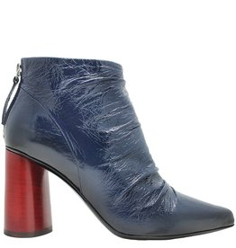 Halmanera Halmanera Blue Crinkle Patent Red Heel Aria