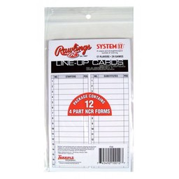 Rawlings Line-Up Cards (12 Pack)