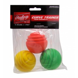 Rawlings Curve Trainer Balls (3 pack)