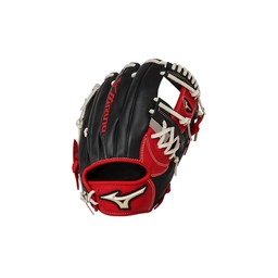 "Mizuno Global Elite GGE63 Infield Glove - 11.5"" Red/Black Right Hand"