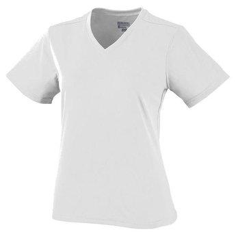 Augusta Women's V-Neck Performance Dri-Fit Shirts White