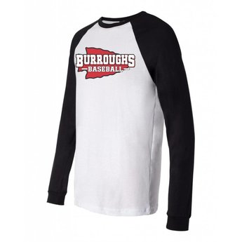 BHSBB Bella + Canvas - Long Sleeve Jersey Baseball Tee - 3000