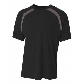 A4 Spartan Short Sleeve Color Block Crew-N3001