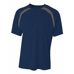 A4 Spartan Short Sleeve Color Block Crew-N3001