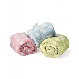 Colorado Clothing - Chunky Chenille Polka Dot Baby Blanket - 2134