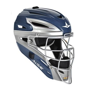 All Star System Seven Youth Solid Two Tone Catching Helmet - MVP2510TT