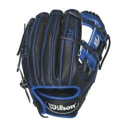 "Wilson A1K DP15 Baseball Glove 11.5""  - Right Hand Throw WTA1KRB16DP15 Black/Royal"