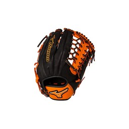 "Mizuno Prime SE GMVP1277PSE4 Outfield Glove - 12.75"" - Black/Orange"