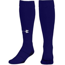 Valencia Baseball Under Armour Performance Socks - U457 Purple/White