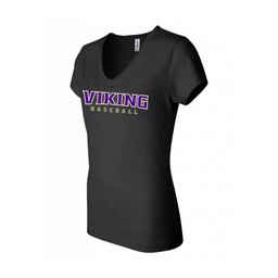 Valencia Baseball Bella + Canvas - Women's Short Sleeve Jersey V-Neck Tee - 6005