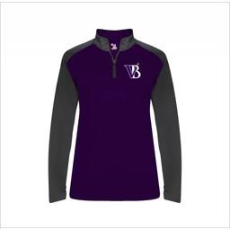 Blaze Baseball Academy - Badger 4008 - Ultimate SoftLock Sport Ladies 1/4 Zip