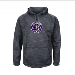 Blaze Baseball Academy - Majestic I328 Grey Hoodie