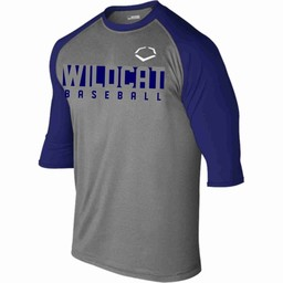 WRHSBB Evo Shield 3/4 Sleeve Performance Baseball Shirt -	WTV102402