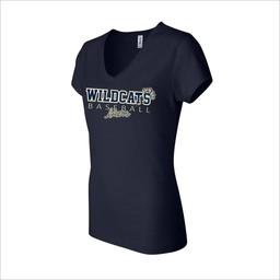 WRHSBB Bella Ladies Short Sleeve V-Neck Jersey T-Shirt - 6005