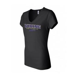 Valencia Baseball Bella + Canvas - Women's Short Sleeve Jersey V-Neck Tee - 6005