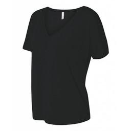Valencia Baseball Bella + Canvas - Women's Slouchy V-neck Tee - 8815