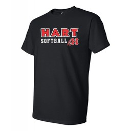 Hart Softball  Gildan 8000 50/50  Black T-shirt