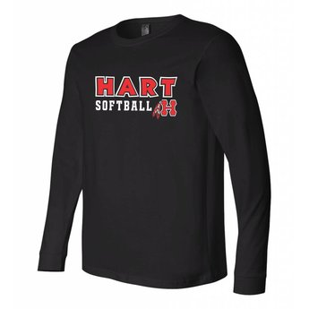 Hart Softball Canvas Long Sleeve Jersey Tee - 3501