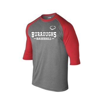 BHS Baseball Evo Shield 3/4 Sleeve Performance Baseball Shirt - WTV102402