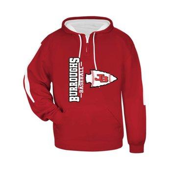 BHS Baseball Badger Sideline Fleece Hood Adult  - 1456