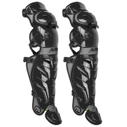 """All Star System 7 Axis 17.5"""" Adult Baseball Catcher's Leg Guards- LG40XPRO"""