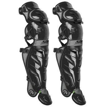 "All Star System 7 Axis 17.5"" Adult Baseball Catcher's Leg Guards- LG40XPRO"