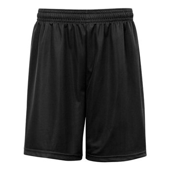 "Badger Mini Mesh Youth Medium 6"" Short Black - 2237"